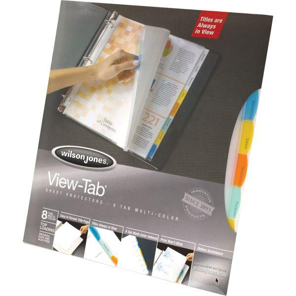Wilson Jones Top Loading View-Tab Sheet Protectors