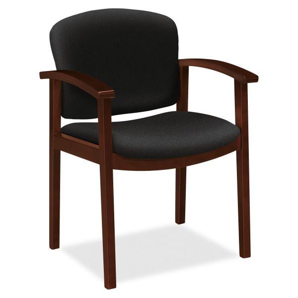 HON 2111 Single Rail Arm Mahogany Guest Chair