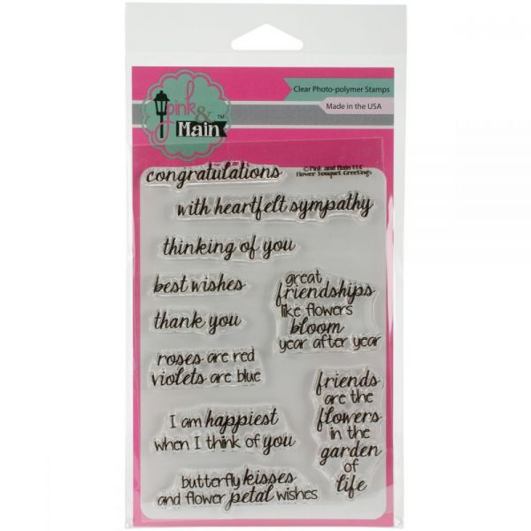 """Pink & Main Clear Stamps 4""""X6"""""""