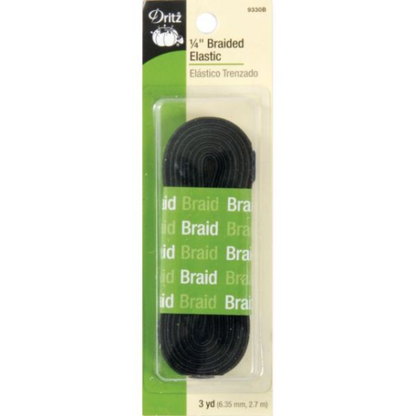 "Braided Elastic 1/4""X3yd"