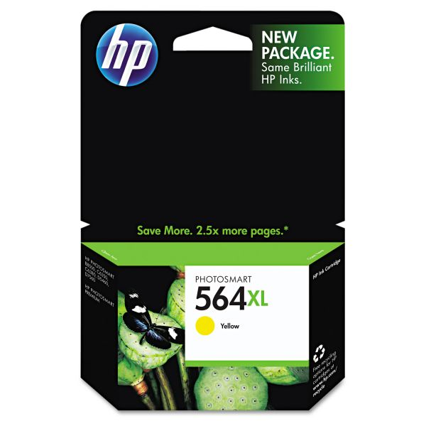 HP 564XL High Yield Yellow Ink Cartridge (CB325WN)