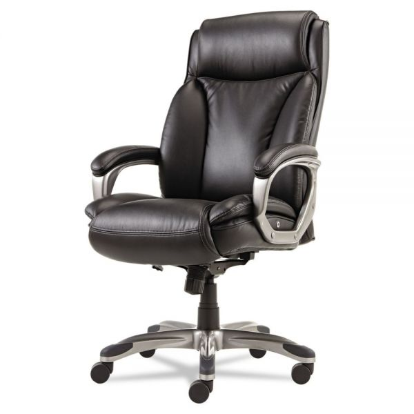 Alera Veon Series Executive High-Back Leather Chair with Coil Spring Cushioning