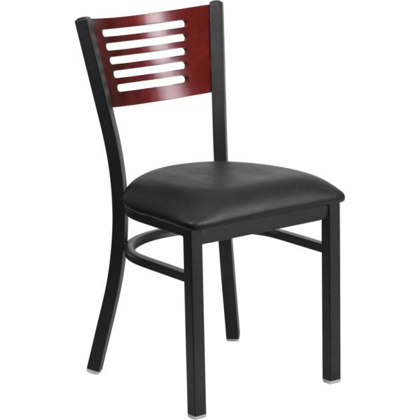 Flash Furniture HERCULES Series Decorative Slat Back Restaurant Chair