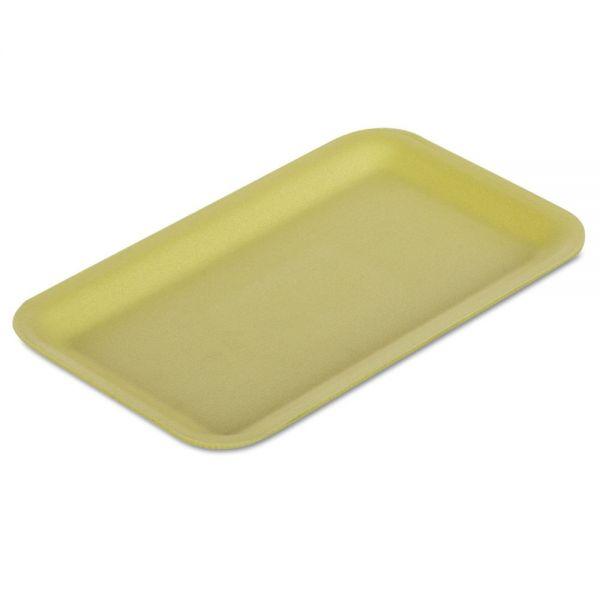 "Genpak Supermarket Trays, Foam, Yellow, 12 1/4"" x 7 1/4"" x 1/2"", 125/Bag, 2 Bags/Carton"