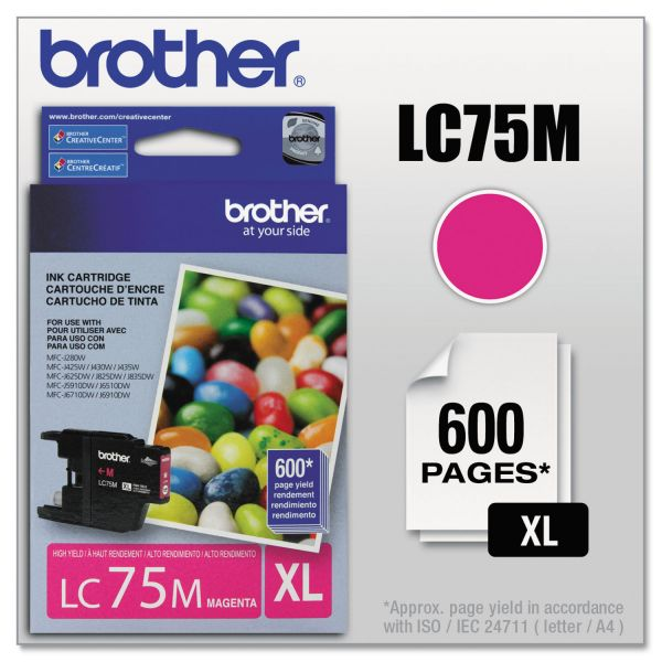 Brother LC75M Magenta High Yield Ink Cartridge