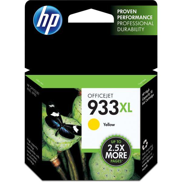 HP 933XL High Yield Yellow Ink Cartridge (CN056AN)