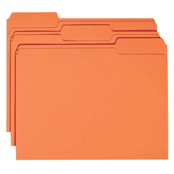 Smead Orange Colored File Folders