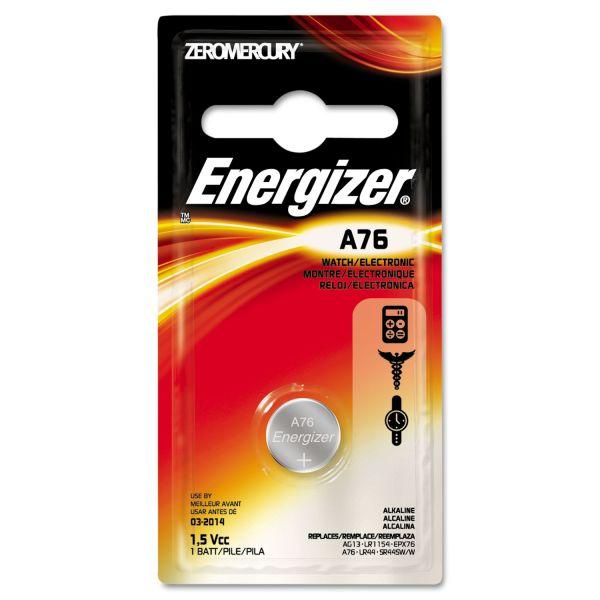 Energizer Watch/Electronic Battery, Alkaline, A76, 1.5V, MercFree