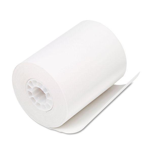 "PM Company Single Ply Thermal Cash Register/POS Rolls, 2 1/4"" x 80 ft., White, 50/CT"