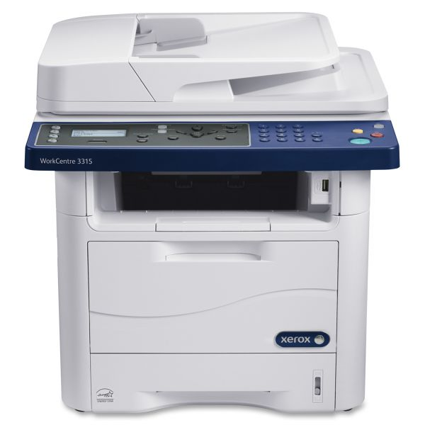 Xerox WorkCentre 3315/DN Laser Multifunction Printer - Monochrome - Plain Paper Print - Desktop