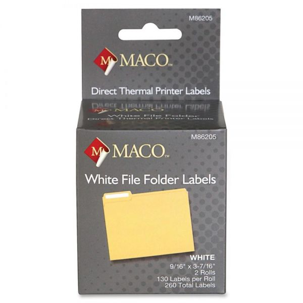 Maco Direct Thermal File Folder Labels