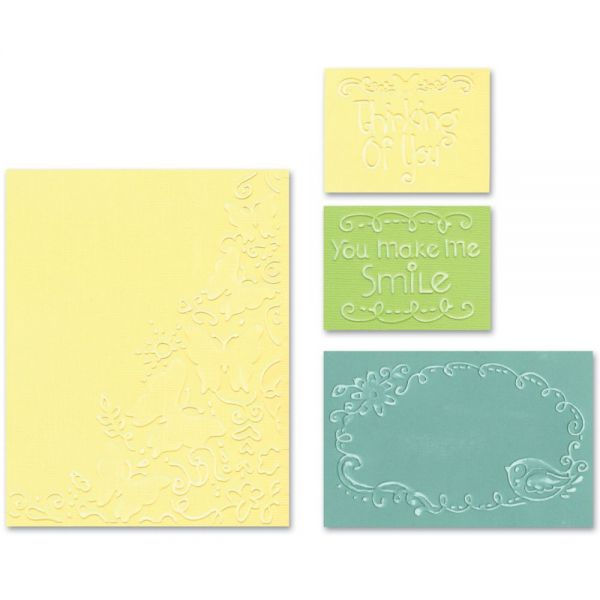Sizzix Textured Impressions A2 Embossing Folders 4/Pkg