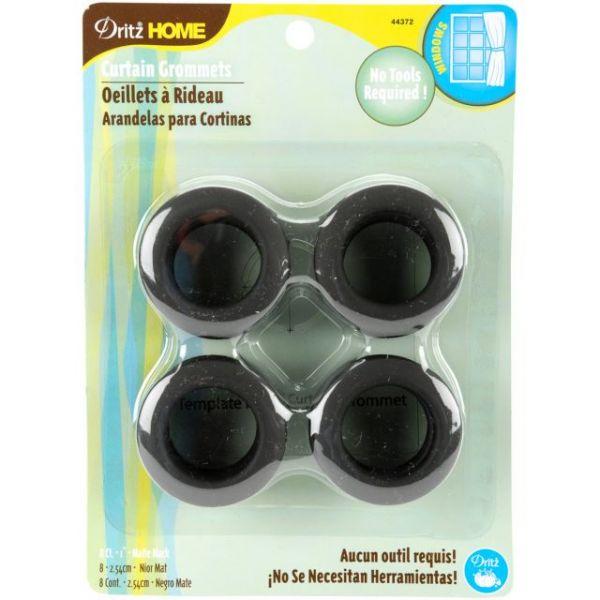 """Curtain Grommets 1"""" Inner Diameter Plastic 8/Pkg"""