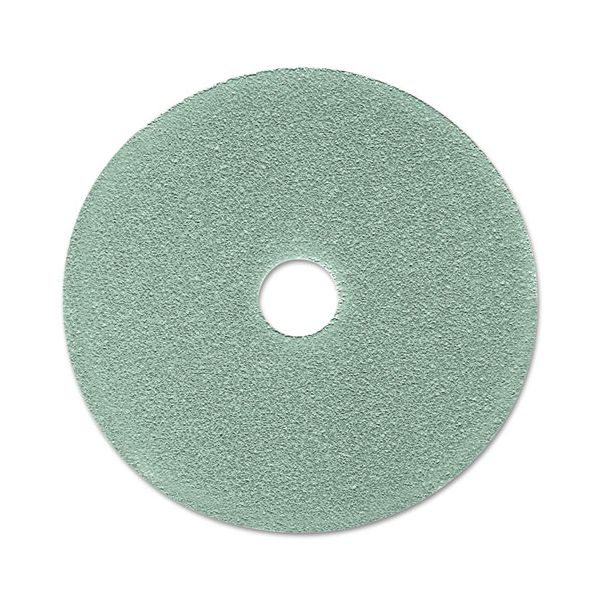 "3M Burnish Floor Pad 3100, 19"" Diameter, Aqua, 5/Carton"