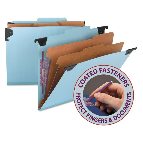 Smead 65115 Blue Hanging Pressboard Classification File Folders