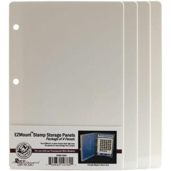 EZMount Stamp Storage Panels 4/Pkg
