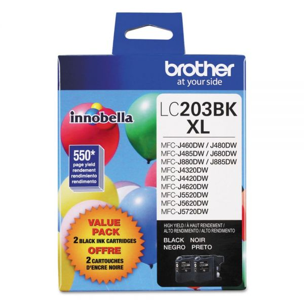 Brother LC2032PKS Innobella High-Yield Black Ink Cartridges
