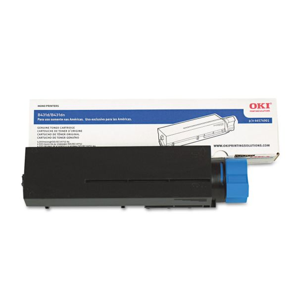 Oki 44574901 Black High Yield Toner Cartridge