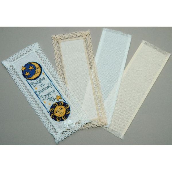 "Lace Edged Bookmark 18 Count 3""X8"""