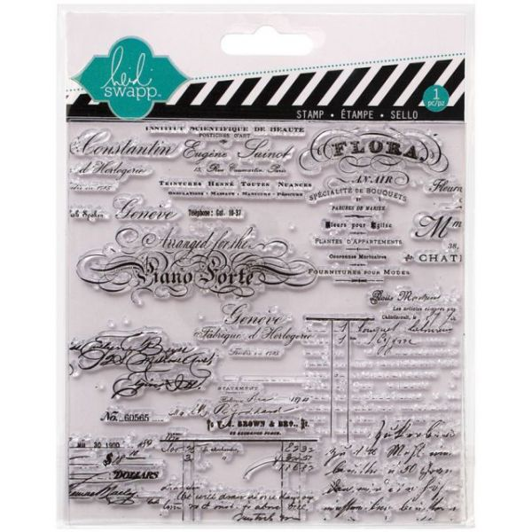 "Heidi Swapp Mixed Media Clear Stamps 5.5""X5.5"""