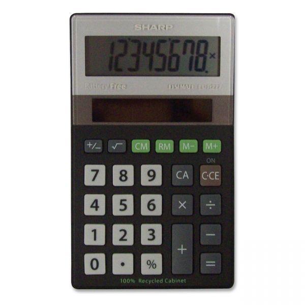 Sharp EL-R277BBK Recycled Series Handheld Calculator
