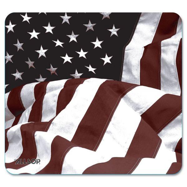 Allsop Naturesmart Mouse Pad, American Flag Design, 8 1/2 x 8 x 1/10