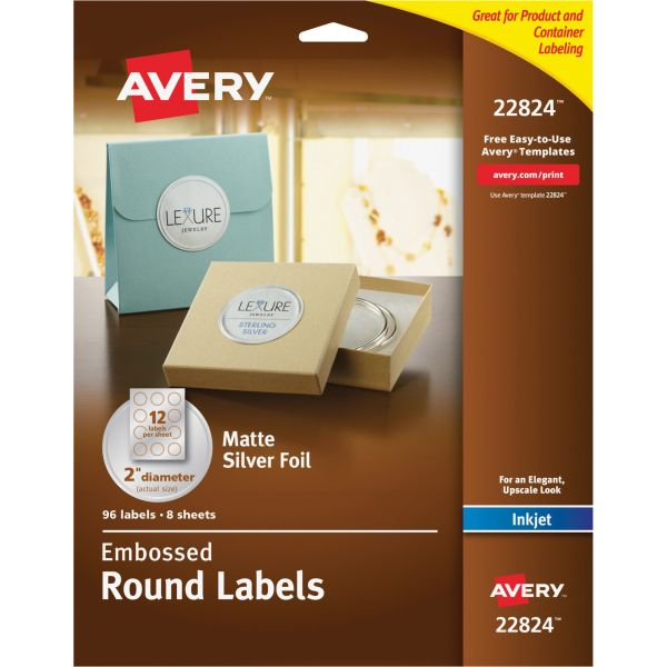 Avery Embossed Round Labels