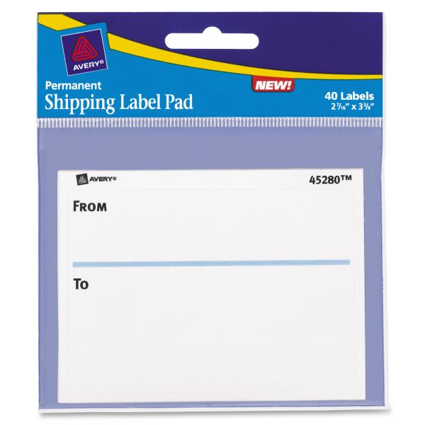 Avery From/To Shipping Label Pads