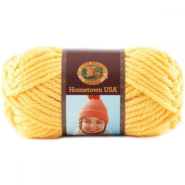 Lion Brand Hometown USA Yarn - Pittsburgh Yellow