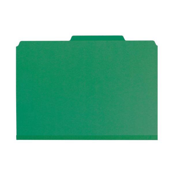 Smead Green Pressboard Classification Folders with SafeSHIELD Fasteners