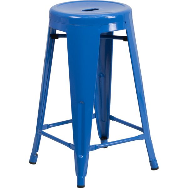 Flash Furniture 24'' High Backless Metal Indoor-Outdoor Counter Height Stool