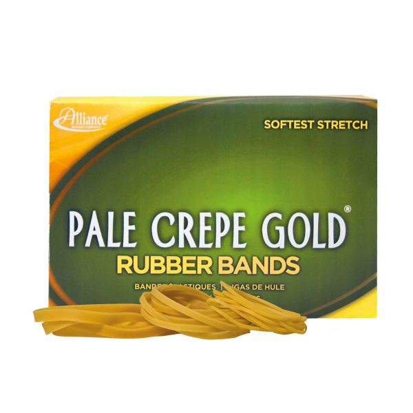 Alliance Rubber 20545 Pale Crepe Gold Rubber Bands - Size #54