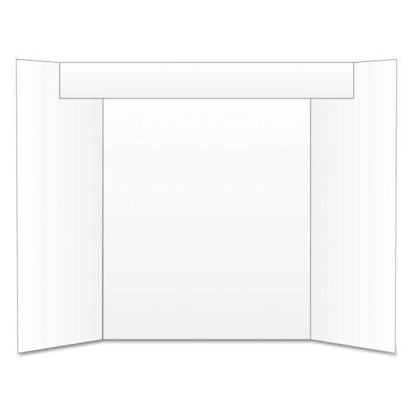 Eco Brites Too Cool Tri-Fold Poster Board, 24 x 36, White/White