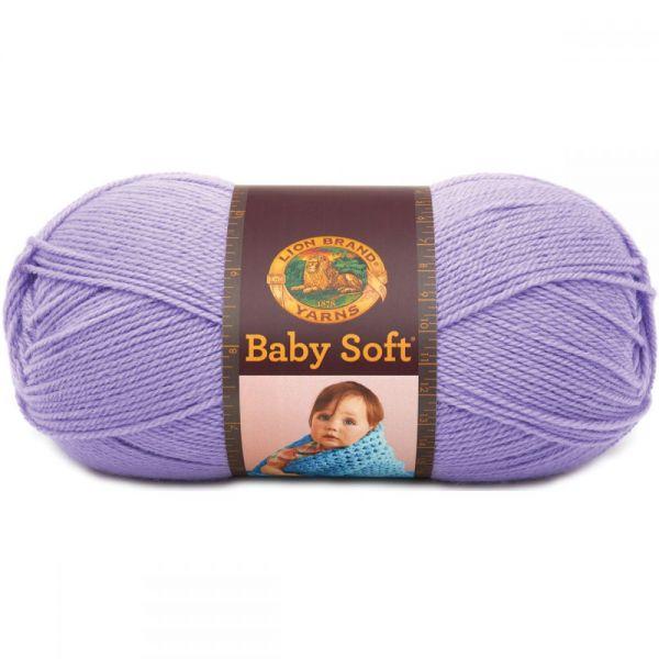 Lion Brand Baby Soft Yarn - Lavender