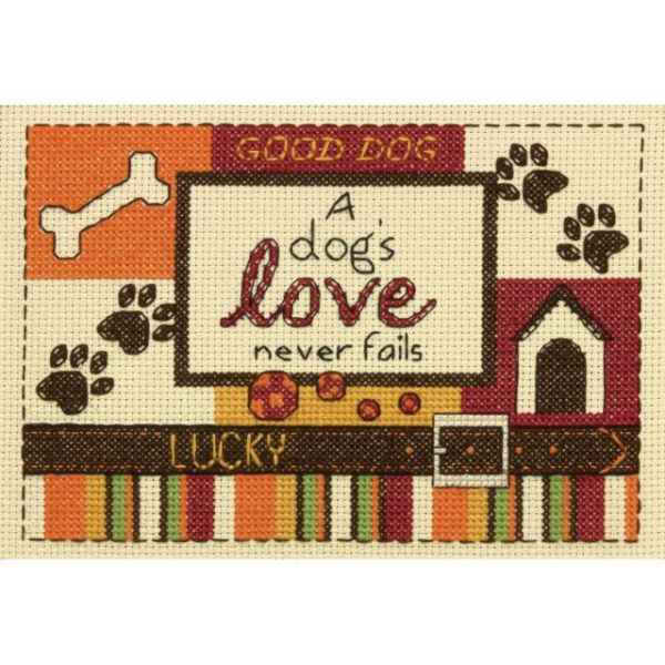 A Dog's Love Counted Cross Stitch Kit