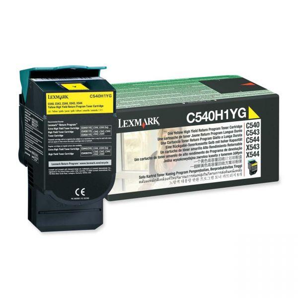 Lexmark C540H1YG Yellow High Yield Return Program Toner Cartridge