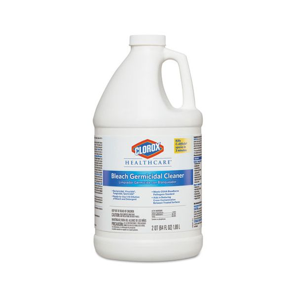 Clorox Healthcare Hospital Cleaner Disinfectant w/Bleach, 2qt Refill, 6/Carton