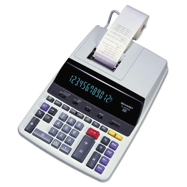 Sharp EL2630PIII Two-Color Printing Calculator, Black/Red Print, 4.8 Lines/Sec