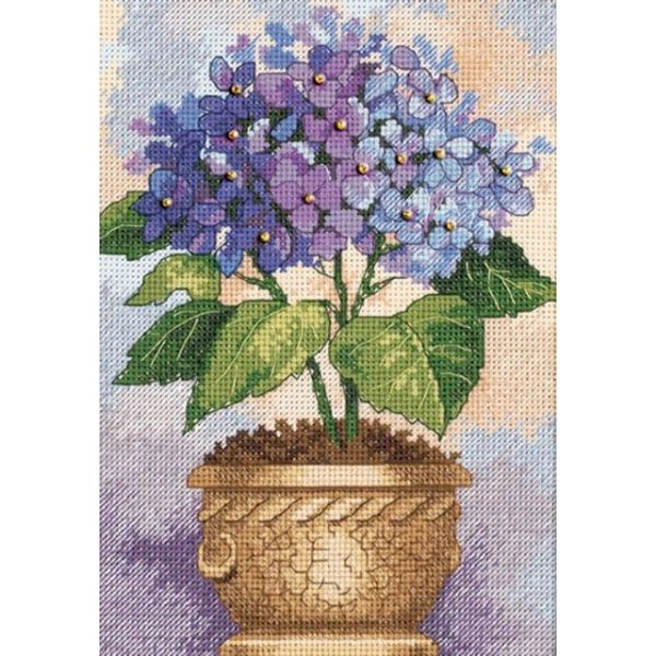 Dimensions Gold Petite Hydrangea In Bloom Counted Cross Stitch Kit