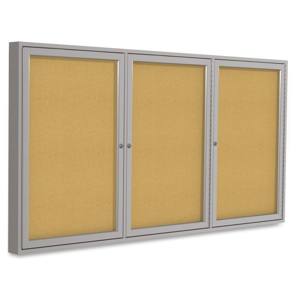 Ghent 3-Door Enclosed Cork Bulletin Board
