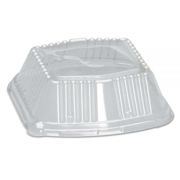 Genpak Snap-On Square Plastic Dome Takeout Container Lids