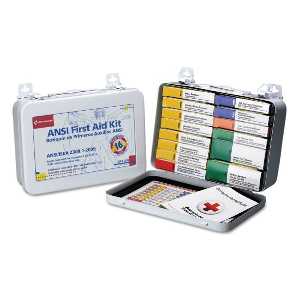 First Aid Only Unitized First Aid Kit for 16 People, 103-Pieces, OSHA/ANSI, Metal Case