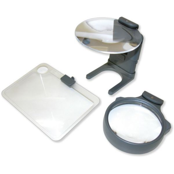 3-In-1 LED Lighted Hands-Free Hobby Magnifier