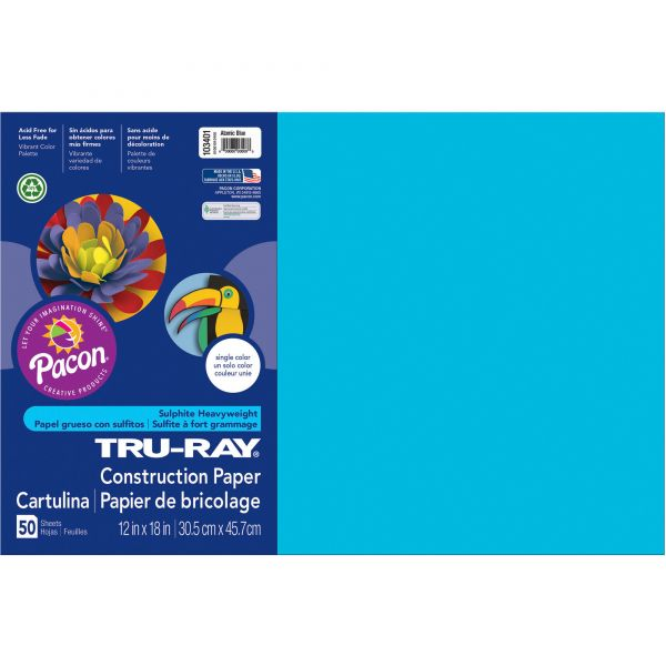 Tru-Ray Heavyweight Sulphite Blue Construction Paper