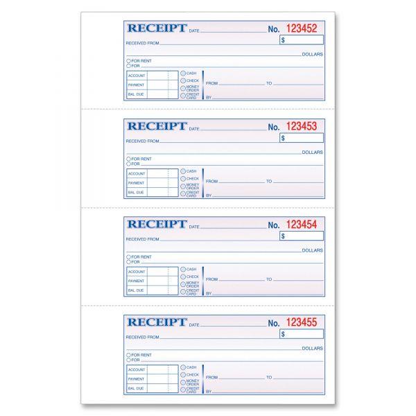 Tops Manifold Money/Rent 2-Part Receipt Book