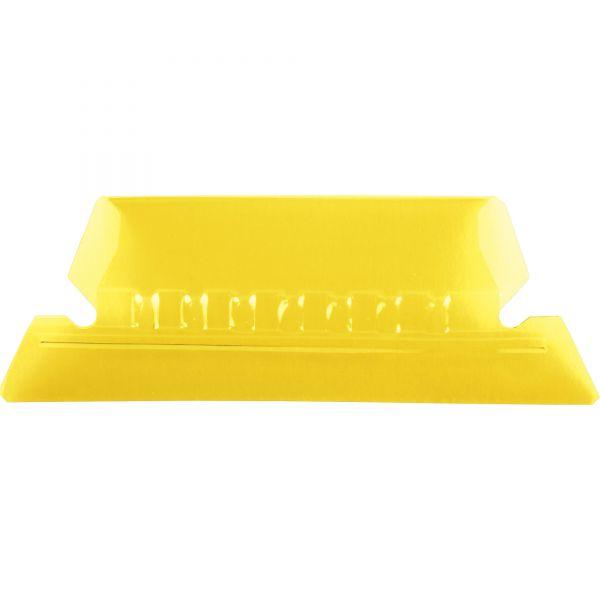 Pendaflex Hanging File Folder Tabs, 1/5 Tab, Two Inch, Yellow Tab/White Insert, 25/Pack