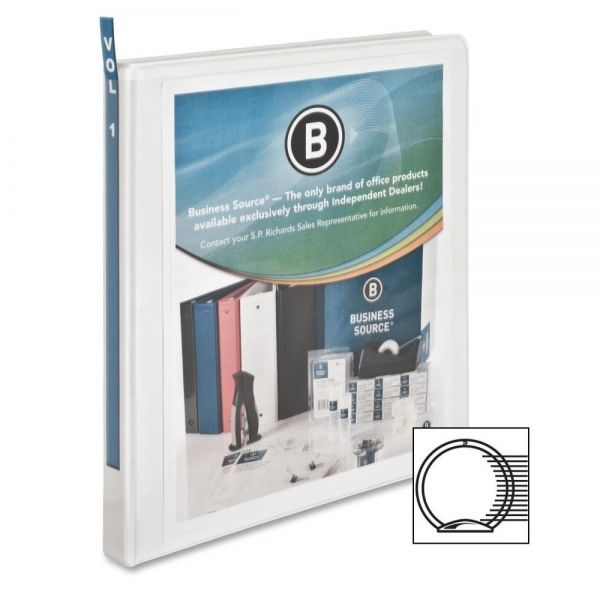 "Business Source Standard 1/2"" 3-Ring View Binder"