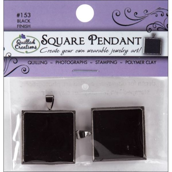 """Jewelry Pendants 1"""" 2/Pkg"""