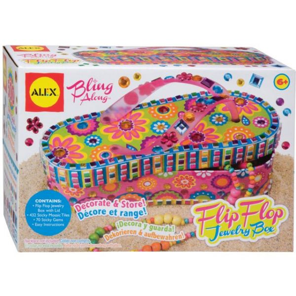 ALEX Toys Craft Bling Along Flip-Flop Jewelry Box Kit