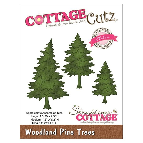 CottageCutz Elites Woodland Pine Trees Die